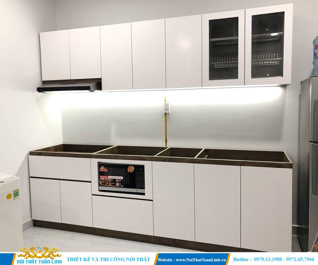 Mẫu thiết kế thi công tủ bếp đơn giản  1
