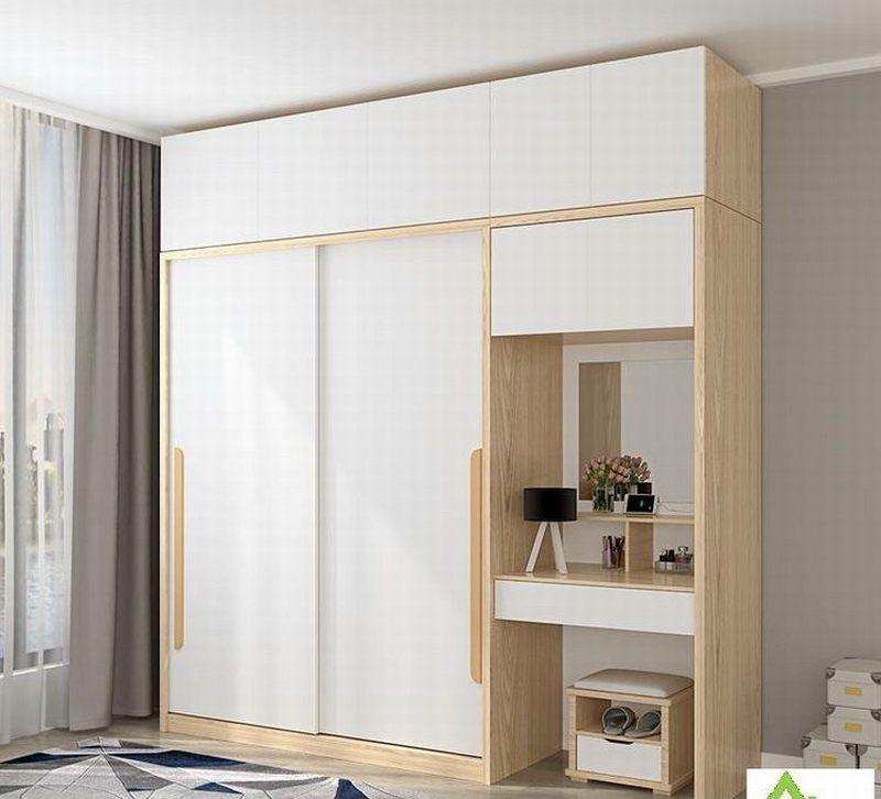 Mẫu giưởng và tủ quần áo gỗ công nghiệp giá rẻ 1